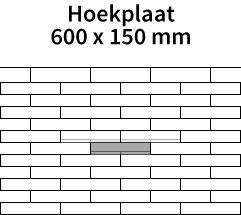 Hoekplaat-600x150mm