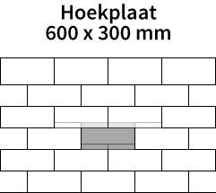 Hoekplaat-600x300mm