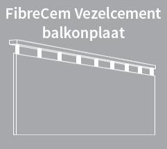 Icon vezelcement balkonplaat